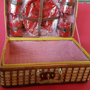 Other - NEW Picnic Basket with Dishes